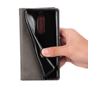 Wallet PU kožené knížkové pouzdro na Nokia 5 - bílé - 6