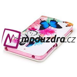 Emotive PU kožené pouzdro na mobil Nokia 6 - květinoví motýlci - 6