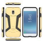 Combo odolný obal se stojánkem na Samsung Galaxy J3 (2017) - zlatý - 6/6