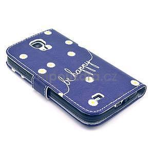 Pěněženkové pouzdro na Samsung Galxy S4 - kytičky be happy - 6