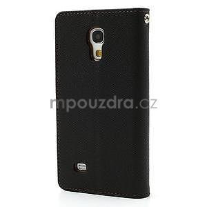 PU kožené peněženkové pouzdro na Samsung Galaxy S4 mini - hnědé/černé - 6