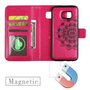 Mandala PU kožené pouzdro na Samsung Galaxy S7 Edge - rose - 6
