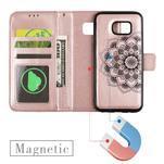 Mandala PU kožené pouzdro na Samsung Galaxy S7 Edge - růžovozlaté - 6/6