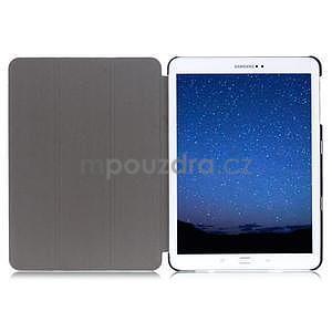 Trifold polohovatelné pouzdro na Samsung Galaxy Tab S2 9.7 - fialové - 6