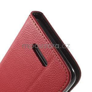 PU kožené lístkové pouzdro pro Sony Xperia E4 - červené - 6