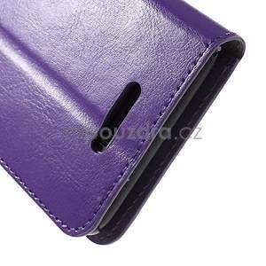 PU kožené peněženkové pouzdro na mobil Sony Xperia E4 - fialové - 6
