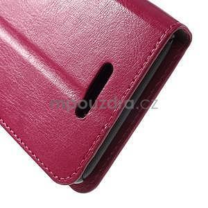 PU kožené peněženkové pouzdro na mobil Sony Xperia E4 - rose - 6