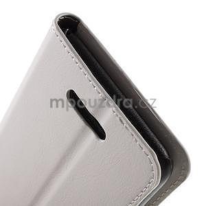PU kožené peněženkové pouzdro na mobil Sony Xperia E4 - bílé - 6