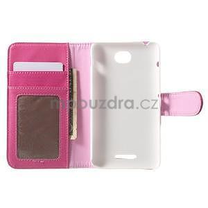 Koženkové pouzdro pro Sony Xperia E4 - rose - 6