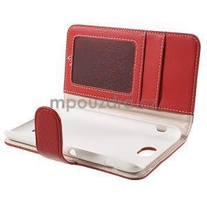 Koženkové pouzdro pro Sony Xperia E4 - červené - 6