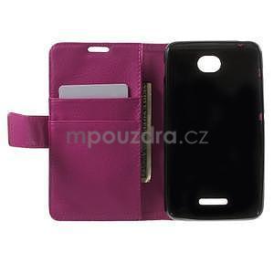 PU kožené peněženkové pouzdro na Sony Xperia E4 - rose - 6