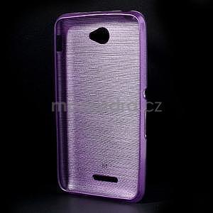 Broušený gelový obal pro Sony Xperia E4 - fialový - 6