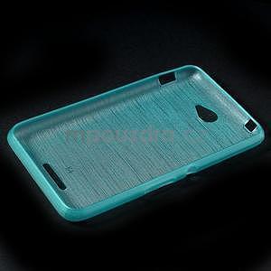 Broušený gelový obal pro Sony Xperia E4 - tyrkysový - 6