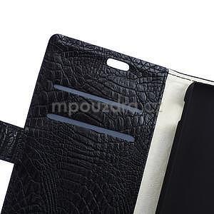 Pouzdro s krokodýlím vzorem na Sony Xperia E4 - černé - 6