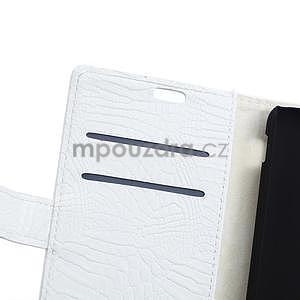 Pouzdro s krokodýlím vzorem na Sony Xperia E4 - bílé - 6