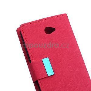 Vzorované pěněženkové pouzdro na Sony Xperia E4 - červené - 6