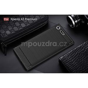 Carbon odolný gelový obal na mobil Sony Xperia XZ Premium - černý - 6
