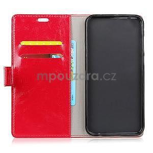Crazy PU kožené zapínací pouzdro na Xiaomi Redmi Note 5A Prime - červené - 6