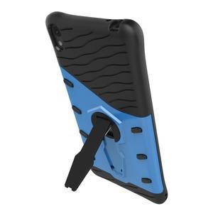 Armory odolný obal se stojánkem na Sony Xperia E5 - modrý - 6