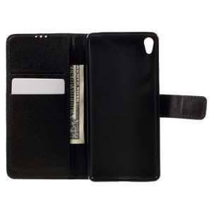 Leathy PU kožené pouzdro na Sony Xperia E5 - černé - 6