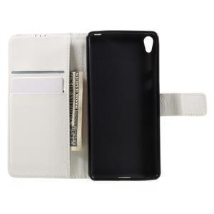 Leathy PU kožené pouzdro na Sony Xperia E5 - bílé - 6