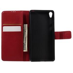 Leathy PU kožené pouzdro na Sony Xperia E5 - červené - 6