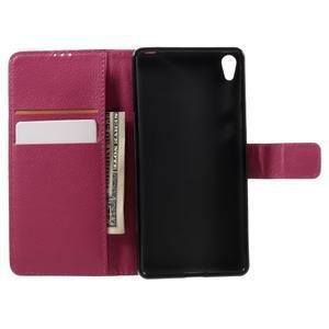 Leathy PU kožené pouzdro na Sony Xperia E5 - rose - 6