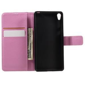 Leathy PU kožené pouzdro na Sony Xperia E5 - růžové - 6