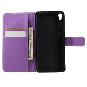 Leathy PU kožené pouzdro na Sony Xperia E5 - fialové - 6