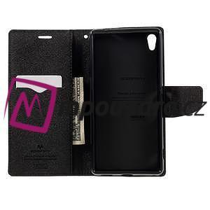 Diary PU kožené pouzdro na mobil Sony Xperia XA Ultra - černé - 6