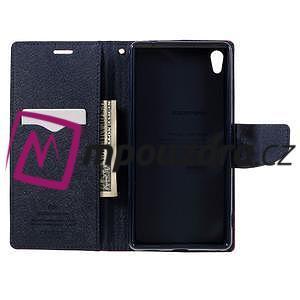 Diary PU kožené pouzdro na mobil Sony Xperia XA Ultra - červené - 6
