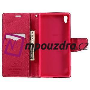 Diary PU kožené pouzdro na mobil Sony Xperia XA Ultra - růžové - 6