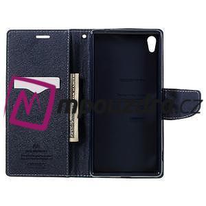 Diary PU kožené pouzdro na mobil Sony Xperia XA Ultra - azurové - 6