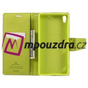 Diary PU kožené pouzdro na mobil Sony Xperia XA Ultra - tmavěmodré - 6