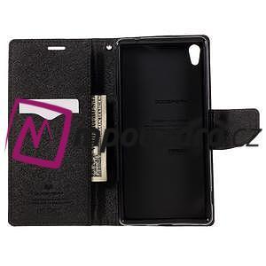 Diary PU kožené pouzdro na mobil Sony Xperia XA Ultra - hnědé - 6