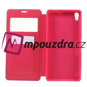 Richi PU kožené pouzdro s okýnkem na Sony Xperia XA Ultra - rose - 6