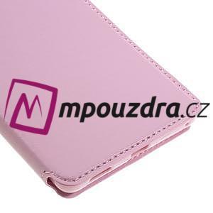 Richi PU kožené pouzdro s okýnkem na Sony Xperia XA Ultra - růžové - 6