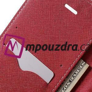 Diary PU kožené pouzdro na mobil Asus Zenfone 3 Deluxe - růžové - 6