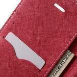 Diary PU kožené pouzdro na mobil Asus Zenfone 3 Deluxe - růžové - 6/7