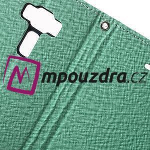 Diary PU kožené pouzdro na mobil Asus Zenfone 3 Deluxe - azurové - 6