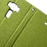 Diary PU kožené pouzdro na mobil Asus Zenfone 3 Deluxe - zelené - 6/7