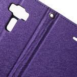 Diary PU kožené pouzdro na mobil Asus Zenfone 3 Deluxe - fialové - 6/7