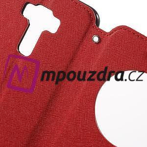 Diary pouzdro s okýnkem na mobil Asus Zenfone 3 ZE520KL - červené - 6