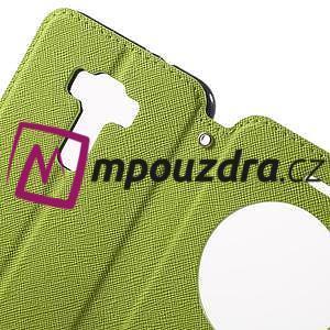 Diary pouzdro s okýnkem na mobil Asus Zenfone 3 ZE520KL - zelené - 6