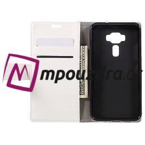 Leathy peněženkové pouzdro na Asus Zenfone 3 ZE520KL - bílé - 6