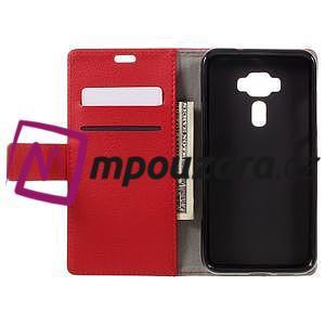 Leathy peněženkové pouzdro na Asus Zenfone 3 ZE520KL - červené - 6