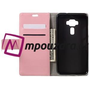 Leathy peněženkové pouzdro na Asus Zenfone 3 ZE520KL - růžové - 6