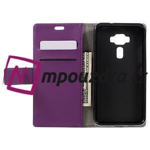 Leathy peněženkové pouzdro na Asus Zenfone 3 ZE520KL - fialové - 6