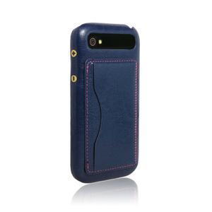 PU kožený kryt se stojánkem na BlackBerry Classic - modré - 6