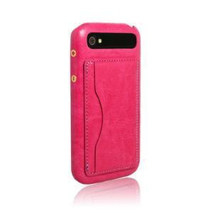 PU kožený kryt se stojánkem na BlackBerry Classic - rose - 6